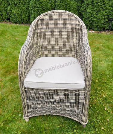 Primo krzesło ogrodowe Technorattan brązowe