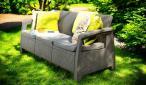 Sofa ogrodowa Corfu Love Seat Max - cappucino