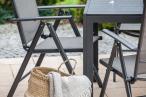 Rimini Mini Czarne Meble Ogrodowe z Aluminium krzesło