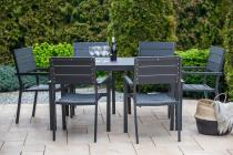 Rimini Plus Czarny Komplet Mebli Tarasowych Aluminiowy
