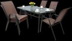 Zestaw ogrodowy z metalowymi krzesłami