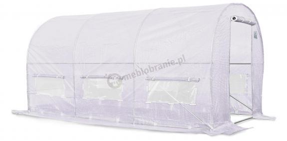 Tunel foliowy 4*2m - biała siatka wzmacniajaca