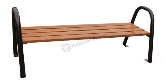 Ławka z rur stalowych bez oparcia 150cm