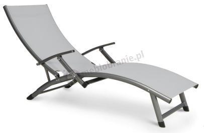Leżak ogrodowy aluminiowy szary