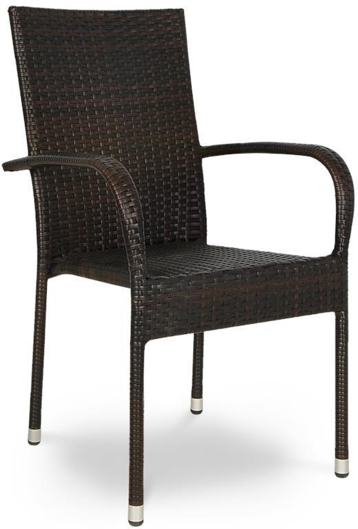 Technorattanowe krzesło Fiesta Brown