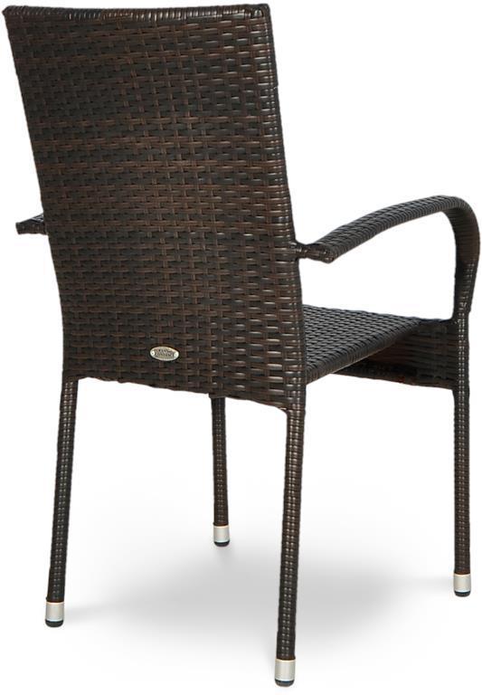 Brązowe krzesło ogrodowe z technorattanu Fiesta