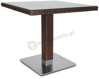 Polina/Merano 80x80 Brown stół technorattanowy