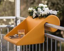 Stolik nowoczesny mango na balkon Balkonzept z pojemnikiem