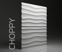 Gipsowe panele 3D na ścianę Dunes Choppy