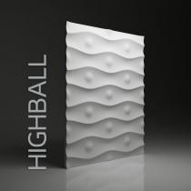 Dunes Highball - Gipsowe panele 3D na ścianę