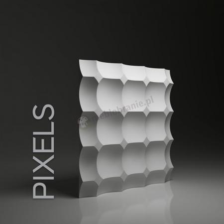 Gipsowe panele 3D na ścianę Dunes Pixels