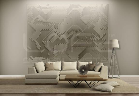 Aranżacja wnętrza Mural Archetype - Loft Design System