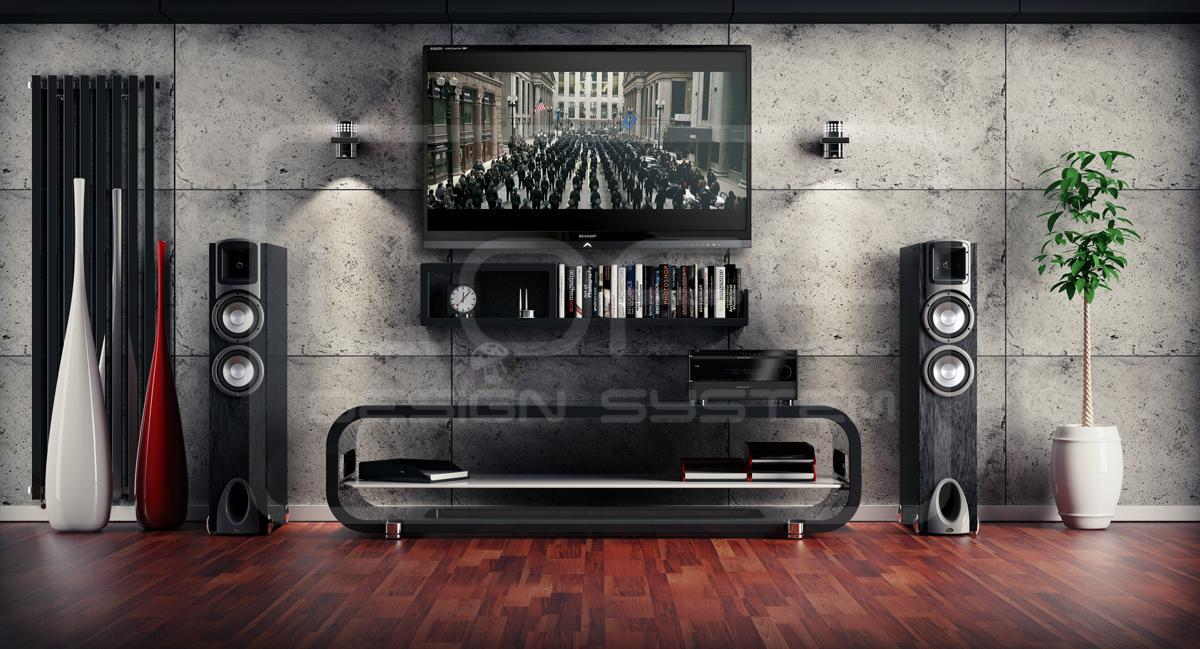 Concrete stone grey 40x60 imitacja betonu loft design system - 3d wandpaneele betonoptik ...
