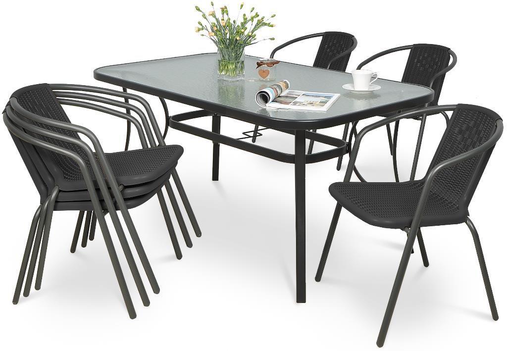 Zestaw stół + 6 krzeseł Simple 150/6