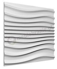 Gipsowe panele dekoracyjne 3D na ścianę Wave - ZD Design