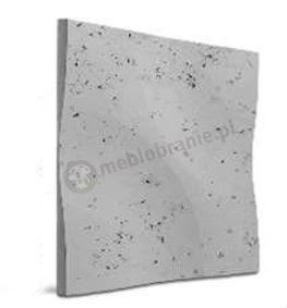 Loft Concrete Model 01 Curves Dove grey - Panele 3d imitujące beton