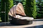 Technorattanowe łóżko ogrodowe Reina Czarna