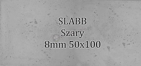 Beton architektoniczny - SLABB Szary 8mm 50x100cm