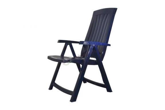 Corsica - krzesło ogrodowe tarasowe niebieskie