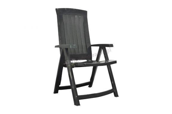 Grafitowe krzesło ogrodowe Corsica