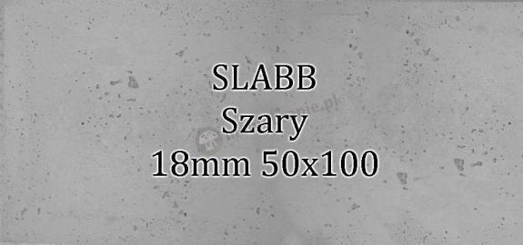 Beton architektoniczny - SLABB Szary 18mm 50x100cm