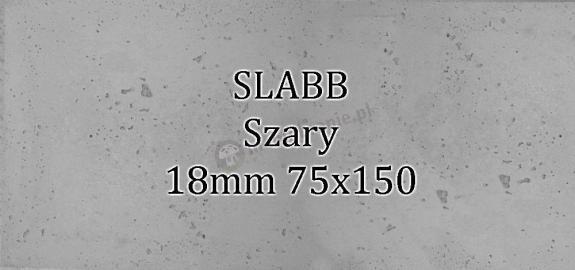 Beton architektoniczny - SLABB Szary 18mm 75x150cm