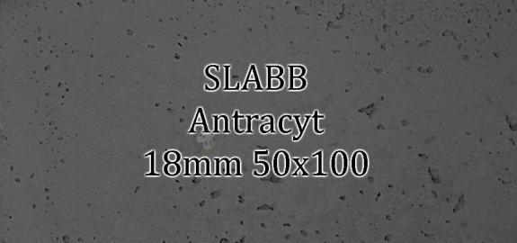 Beton architektoniczny - SLABB Antracyt 18mm 50x100cm
