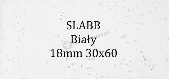 Beton architektoniczny - SLABB Biały 18mm 30x60cm