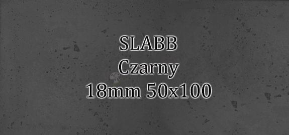 Beton architektoniczny - SLABB Czarny 18mm 50x100cm
