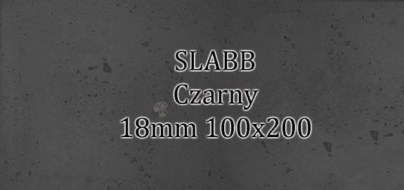 Beton architektoniczny - SLABB Czarny 18mm 100x200cm