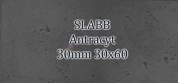 Beton architektoniczny - SLABB Antracyt 30mm 30x60cm