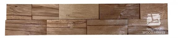 Buk twardzielowy łupany cegiełka *045 - Natural Wood Panels