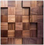 Panele drewniane Orzech amerykański kostka gładka *043 - Natural Wood Panels