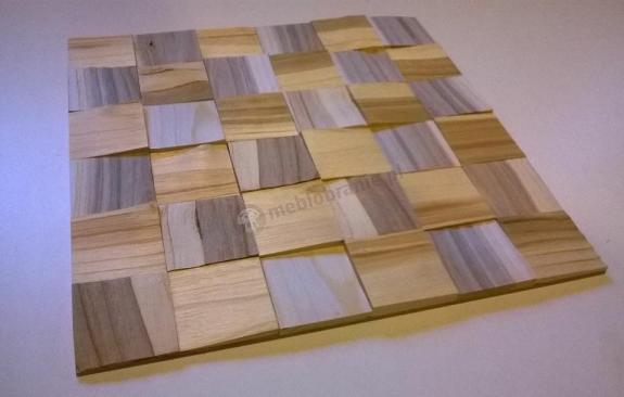 Panele Drewniane Czereśnia kostka łupana 3d *042 - Natural Wood Panels