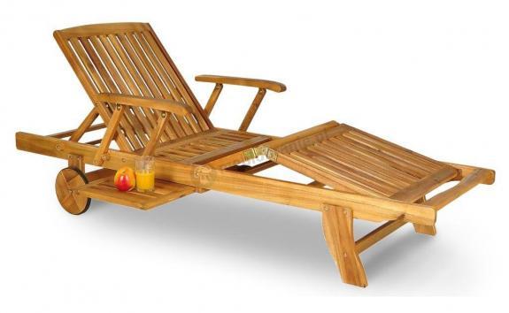 Havana leżak drewniany na kółkach