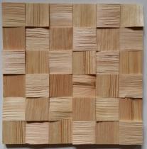 Panele drewniane Sosna skandynawska Kostka łupana 3d *040 - Natural Wood Panel