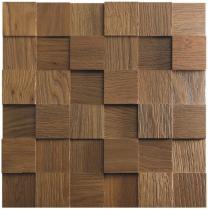 Panele drewniane Dąb RUSTIKAL Kostka Gładka 3D *001 - Natural Wood Panels