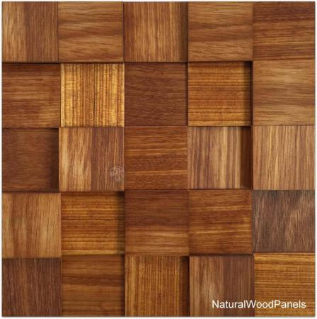 Panele drewniane Massaranduba kostka 3d *038 - Natural Wood Panels