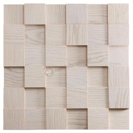 Panele drewniane Dąb Bielony – kostka 3d *035 - Natural Wood Panels