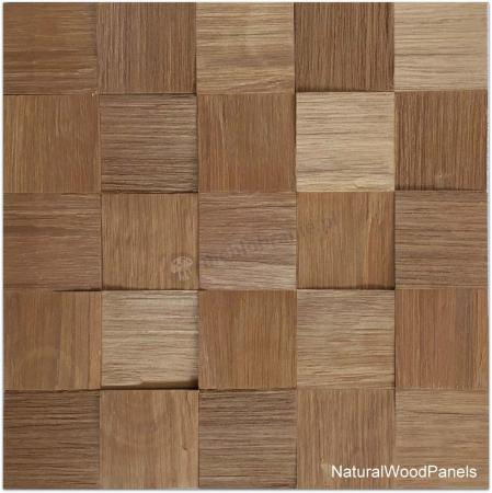 Panele drewniane Jatoba – Kostka łupana 3d *023 - Natural Wood Panel