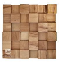 Panele drewniane Buk Europejski – Kostka 3d gładka *005 - Natural Wood Panels