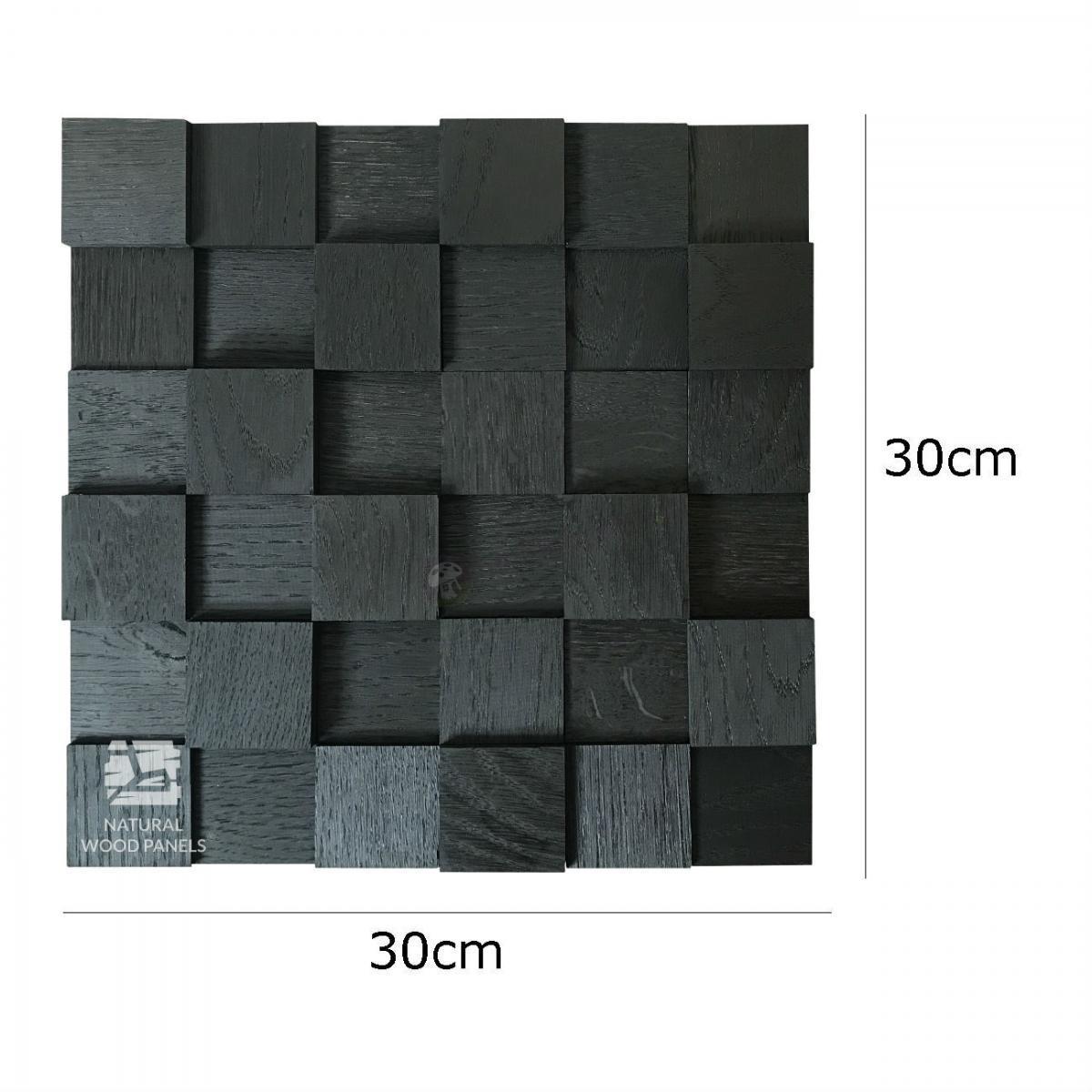 Dąb kostka 3D Black wymiary