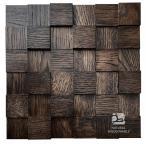 Panele drewniane Dąb Wenge Kostka Gładka 3D *002 - Natural Wood Panels