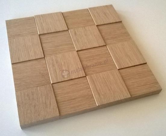 Panele drewniane Dąb Kostka Surowa 3D *007 - Natural Wood Panels