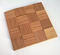 Panele drewniane Dąb kostka BIG surowa 3D *012 - Natural Wood Panels