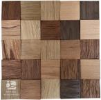 Panele drewniane Kostka piaskowana MIX 3D *015 - Natural Wood Panel