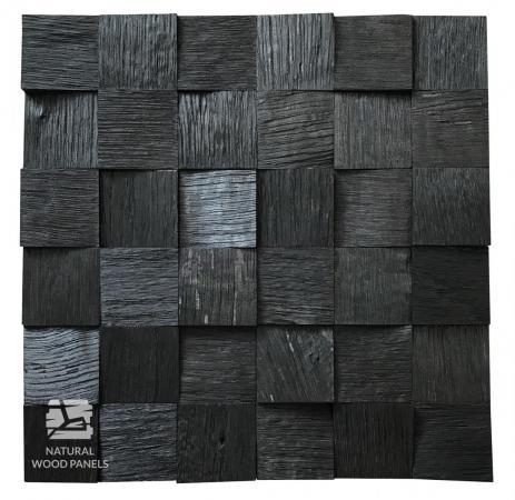 Panele drewniane Dąb Czarny Kostka Łupana *020 - Natural Wood Panels