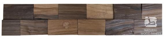 Panele drewniane Orzech cegiełka łupana 3D *031 - Natural Wood Panels
