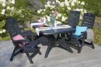 Krzesła Hera w zestawie ze stołem Wellington