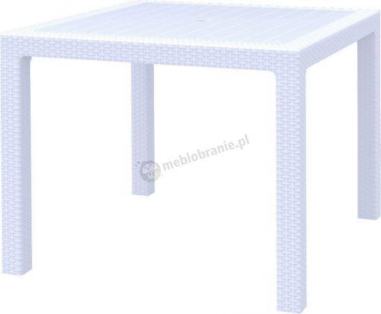 Stół ogrodowy Melody Quartet w kolorze białym